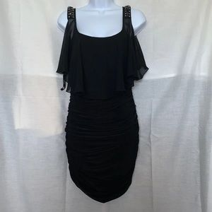 Black Body Con Bejeweled Dress